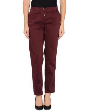 Повседневные брюки TOY G.. Цвет: красно-коричневый