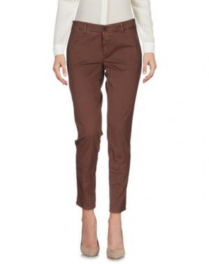 Повседневные брюки INX #THINK COLORED. Цвет: коричневый