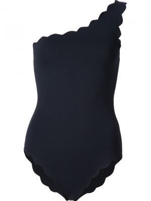Купальник на одно плечо Marysia. Цвет: чёрный
