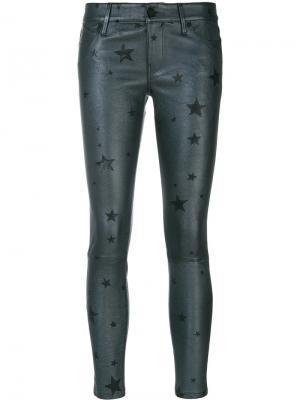 Укороченные брюки со звездами Rta. Цвет: серый
