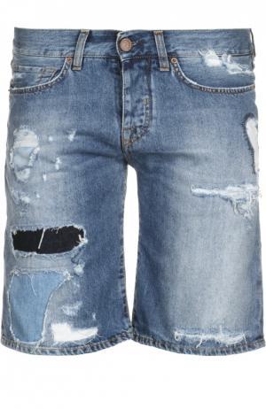 Шорты джинсовые 2 Men Jeans. Цвет: синий