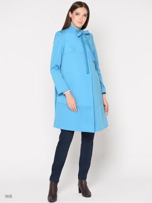 Пальто Trendy Tummy. Цвет: голубой