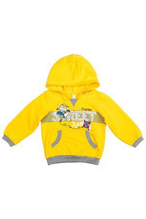 Толстовка PlayToday. Цвет: желтый, серый, белый, голубой