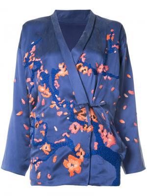 Кимоно Blossom Maharishi. Цвет: синий