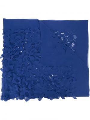 Laser cut scarf Maria Calderara. Цвет: синий