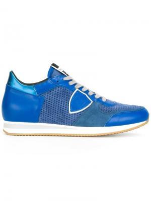 Кроссовки с деталью металлик Philippe Model. Цвет: синий