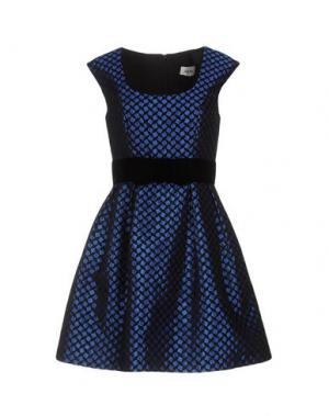 Короткое платье ALLURE. Цвет: синий