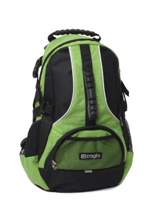 Ранец ученич. для средних и старших классов 453113 CAGIA. Цвет: зеленый