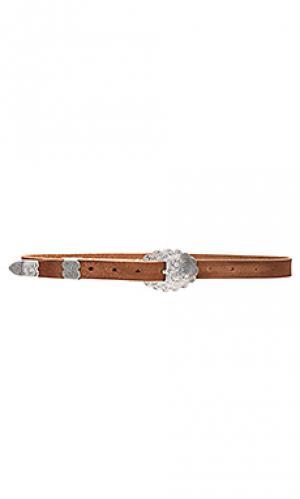 Ремень с серебристой гравированной пряжкой Stillwater. Цвет: коричневый
