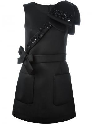 Декорированное платье Simone Rocha. Цвет: чёрный