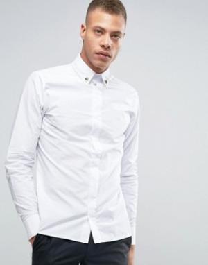 Rogues of London Рубашка зауженного кроя с уголками для воротника. Цвет: белый