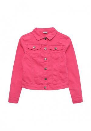 Куртка джинсовая Blukids. Цвет: розовый