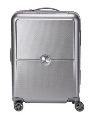 Чемодан/сумка на колесиках DELSEY. Цвет: свинцово-серый