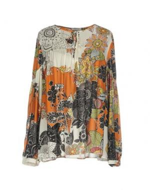Блузка DEVOTION. Цвет: коричневый