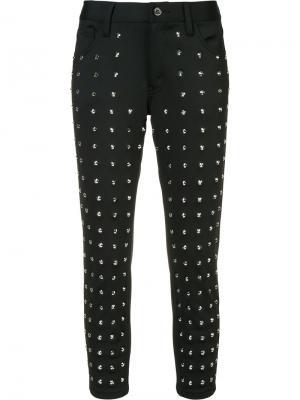 Укороченные брюки с заклепками Junya Watanabe Comme Des Garçons. Цвет: чёрный