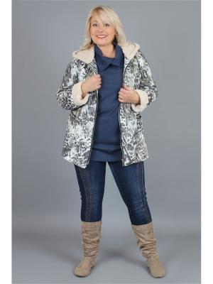 Куртка NadiN. Цвет: серо-голубой, бежевый