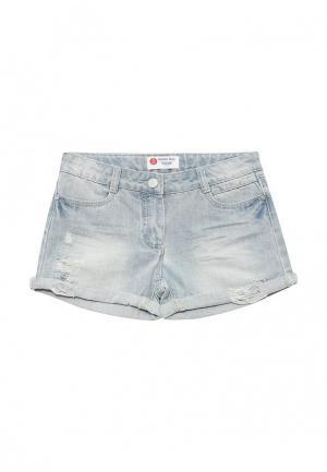 Шорты джинсовые Button Blue. Цвет: голубой