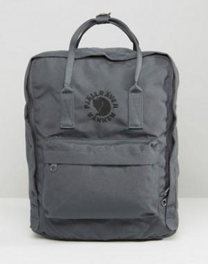 Fjallraven Серый рюкзак объемом 16 л Re-Kanken. Цвет: серый