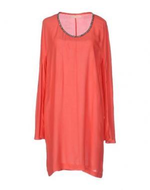 Короткое платье MONICA •LENDINEZ. Цвет: коралловый