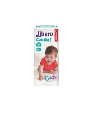 Libero Подгузники детские Комфорт макси плюс 10-16кг 56шт упаковка мега. Цвет: белый