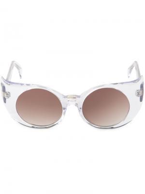 Солнцезащитные очки Eye-Liner Frame  Barns Barn's. Цвет: белый