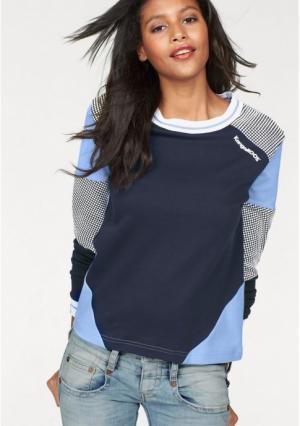Толстовка Kangaroos. Цвет: темно-синий/голубой, черный/светло-серый меланжевый