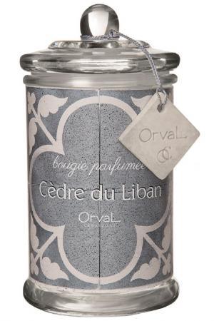 Свеча Ливанский кедр ORVAL. Цвет: белый, голубой