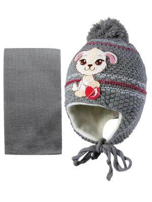 Шапка и шарф Kolad. Цвет: серый