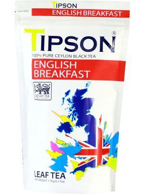 Чай Tipson Английский завтрак 175гр, 1 ПАКЕТ. Цвет: белый