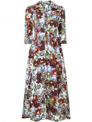 Dorothea Rose print dress Erdem. Цвет: многоцветный