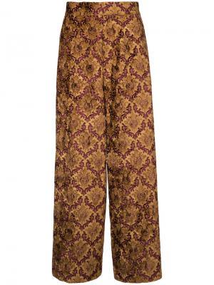 Широкие брюки G.V.G.V.. Цвет: жёлтый и оранжевый