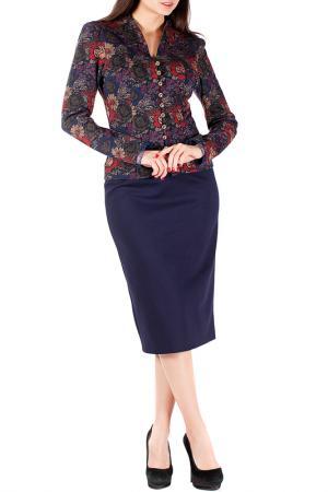 Комплект с юбкой Mannon. Цвет: сине-бордовый