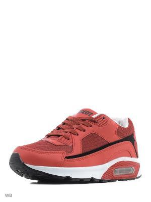 Спортивные кроссовки Ascot. Цвет: красный, черный