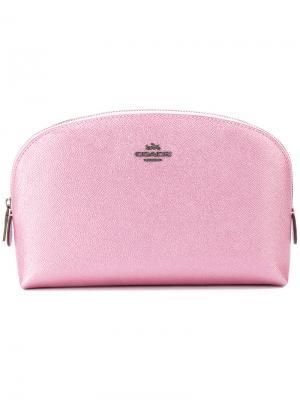 Косметичка с логотипом Coach. Цвет: розовый и фиолетовый