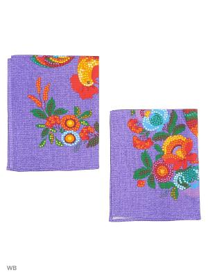 Набор полотенец вафельных Римейн. Цвет: фиолетовый