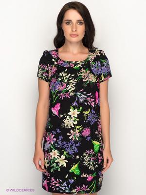 Платье AKIMBO. Цвет: черный, зеленый, фиолетовый, фуксия