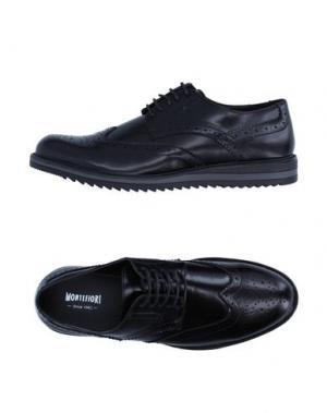 Обувь на шнурках MONTEFIORI. Цвет: черный