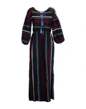 Длинное платье SHIRTAPORTER. Цвет: черный