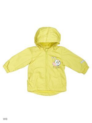 Куртка PlayToday. Цвет: желтый, белый, черный, розовый