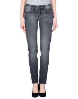 Джинсовые брюки M.GRIFONI DENIM. Цвет: серый