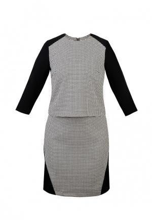 Платье Spicery. Цвет: черно-белый