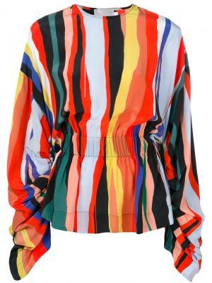 Блузка Davine Solace. Цвет: жёлтый и оранжевый