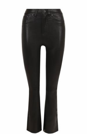 Кожаные расклешенные брюки Rag&Bone. Цвет: черный