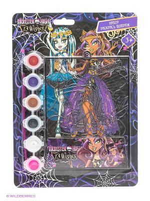 Витражная картинка Monster High Centrum. Цвет: черный, фиолетовый