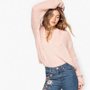 Пуловер покроя оверсайз из мохера La Redoute Collections. Цвет: розовый экрю,розовый,темно-зеленый