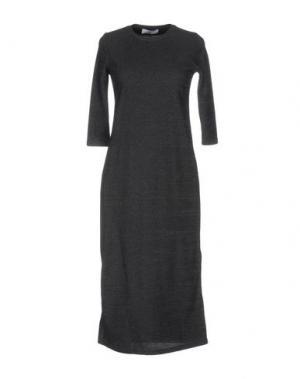 Платье до колена AXARA PARIS. Цвет: свинцово-серый