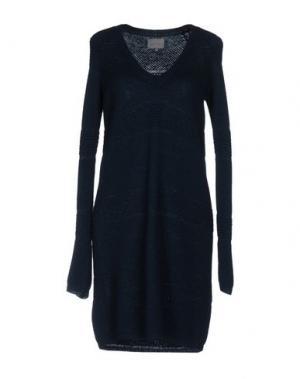 Короткое платье MAIYET. Цвет: цвет морской волны