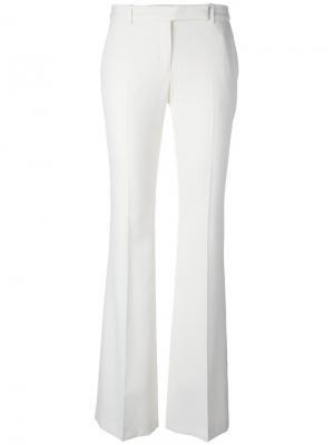 Расклешенные брюки Alexander McQueen. Цвет: белый