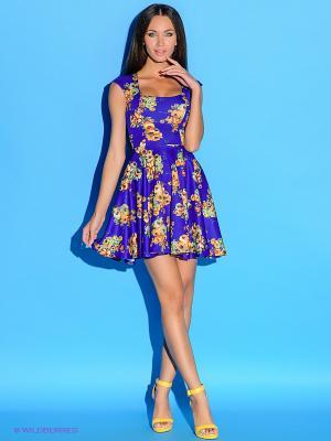 Платье Colambetta. Цвет: синий, зеленый, оранжевый