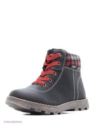 Ботинки XTI. Цвет: черный, красный